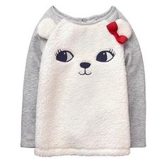 Toddler Girl Ivory Polar Bear Pullover by Gymboree Girls Fall Outfits, Toddler Girl Outfits, Toddler Fashion, Boy Fashion, Toddler Girls, School Outfits, Shoe Size Chart Kids, Fuzzy Pullover, Toddler Costumes