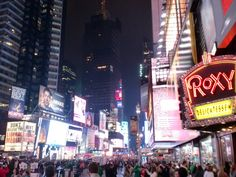 Times Square by night! #NewYork