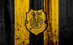 Download wallpapers 4k, FC Olimpo, grunge, Superliga, soccer, Argentina, logo, Olimpo, football club, stone texture, Olimpo FC