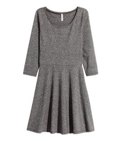 H&M Jersey Dress $18 :: Short jersey dress with 3/4-length sleeves and a slightly wider neckline. Seam at waist and circle skirt. Unlined.