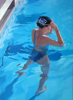 T: Muse Gallery Toronto - painter: Jane Fisher Painting People, Figure Painting, Figurative Kunst, Underwater Painting, Summer Painting, Water Art, Art Plastique, Pictures To Paint, Painting Inspiration