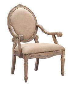 Loving this Beige Accent Chair on #zulily! #zulilyfinds