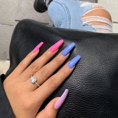 Spring Fever 40 of the Best Spring Nails for 2019 Hashtag Nailart fever Hashtag nailart Nails Spring Summer Acrylic Nails, Best Acrylic Nails, Acrylic Nail Designs, Summer Nails, Colored Acrylic Nails, Pink Acrylics, Colorful Nail Designs, Perfect Nails, Gorgeous Nails