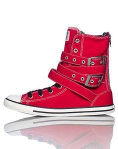 CONVERSE WOMENS Dark Pink Footwear / Casual