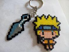 Llavero Naruto hecho con hama bead mini