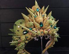 Mermaid Crown, Mermaid Diy, Hanging Centerpiece, Seashell Crown, Ocean Crafts, Handmade Headbands, Fantasy Jewelry, The Little Mermaid, To My Daughter