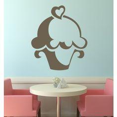 Heart Cupcake Kitchen Wall Art Stickers Wall Decals