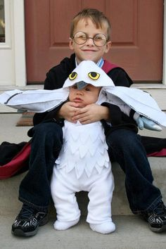 Harry Potter and Hedwig Costumes. Obviously, I'm doing this to my children.