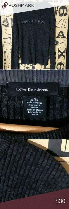 Calvin Klein jeans spell out black sweater Gently used Calvin Klein jeans spell out black sweater size xl. Calvin Klein Jeans Sweaters