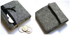 Stitch a man's foldable coin and note purse