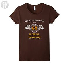Womens Gift for 62nd Birthday. Birthday T shirts for Men Turning 62 Large Brown - Birthday shirts (*Amazon Partner-Link)