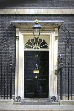 Number 10 Downing Street. Lion Door Knocker, Door Knockers, Door Knob, Portal, Black Front Doors, Number 10, Fake Number, Secret Places, Hidden Places