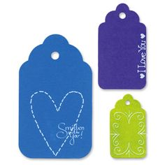 Sizzix Originals Die - Tags, Scallop Combo #2