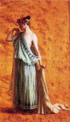 Ράλλης Θεόδωρος-Γυναίκα με αρχαία φορεσιά Greece Painting, Impressionist Paintings, North Africa, Egypt, History, Portrait, Painters, Flow, Colour