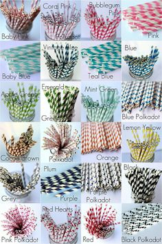 Straws for sipping iced tea