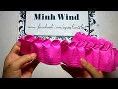 Cách làm Hoa hồng xoắn bằng giấy nhún - Twisted Rose paper flower tutorial [hoagiayshop.com] - YouTube