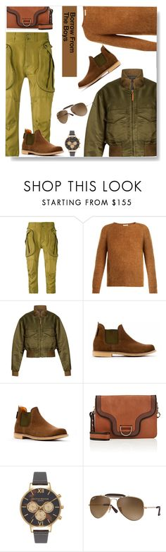 """Borrow From The Boys"" by carolinez1 ❤ liked on Polyvore featuring Faith Connexion, MASSCOB, Nili Lotan, Marc Jacobs, Olivia Burton, Ray-Ban, polyvorecommunity and Polyvoreeditoral"