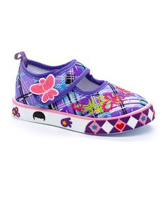 Another great find on #zulily! Purple Sandra Mary Jane Sneaker #zulilyfinds