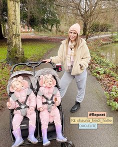 Our Infababy Duo-Elite Double Buggy 💛 It's so easy to use and has a handy one-hand fold feature allowing you to get going with ease. Massive thanks to shauna_heidi_hallie for sharing this picture with us 🥰 Double Buggy, Travel System, Car Seats, Mosaic, Grey, Gray, Mosaics, Mosaic Art