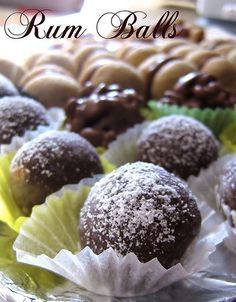 Rum Balls, Biscotti Cookies, Mini Desserts, Chocolate Fudge, Sweet Cakes, Finger Foods, Nutella, Cookie Recipes, Food And Drink