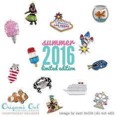 Can't wait for the #Summer Collection by #OrigamiOwl to come!! www.charmingsusie.origamiowl.com #Summertime #Camping #ferriswheel #Aloha #statueofliberty #Vegas #fishing #nautical #navyblue