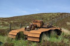 Photographer Leslie Barrie snapped this abandoned track vehicle in 2009, lying on the slopes of Sliabh a' Bhiorain in Argyll and Bute, on Scotland's majestic Kintyre Peninsula.