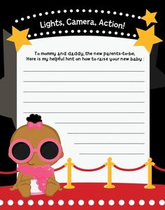 A Star Is Born Hollywood Baby Shower Invitations Theme Oscar Party Pinterest And