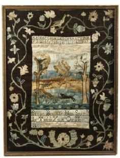 This sampler actually sold for more than 456,000.00 at auction!  It was stitched in 1781 by Betsy Bentley, 13 year old daughter of Joshua Bentley (who rowed Paul Revere across the river for his famous midnight ride)