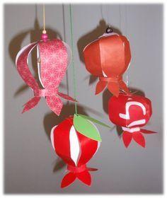 paper pomegranates -- easy and elegant hebrew tutorial (yay google translate!)