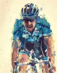 Tom Boonen viaPainting Le Tour