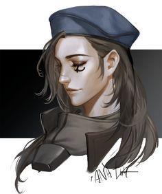 Young Ana - More at https://pinterest.com/supergirlsart/ #ana #amari #overwatch #fanart