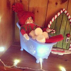 Elf on the shelf- marshmallow bath