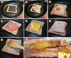 Diy Projects: Egg In A Frame Yummy Food DIY Food Breakfast Ideas Food Recipes