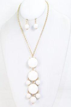 White Bubble Necklace