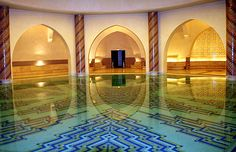 Bassin Hassan II Moskee Casablanca (Marokko)