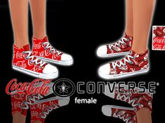 The Sims Resource: Coca Cola Converse by Pinkzombiecupcakes • Sims 4 Downloads