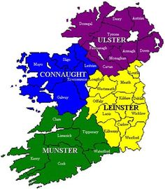 Ireland is divided into four provinces, Munster, Leinster, Ulster and Connacht which are made up of 32 counties Ireland Map, Ireland Travel, Dublin Ireland, Limerick Ireland, Amanda Miguel, County Map, Irish Roots, Irish Celtic, England