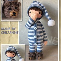 Sven in pajamas from grandfather's period. Digital Product: Requires a program that can open .PDF files. Pattern is in English using crochet terminology from the United Kingdom. …