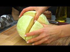 Jak rychle a snadno nakrájet zelí a rychle připravit chutné pokrmy!  Perfektní - YouTube Zucchini, Tempeh, Sauerkraut, Vegetable Recipes, Watermelon, Cabbage, Grilling, Food And Drink, Healthy Recipes