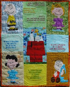 Blogger's Quilt Festival: Peanuts Snoopy Wall Hanging