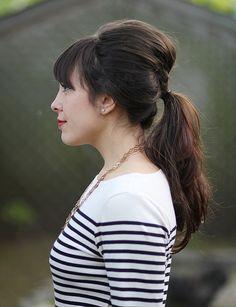 Cute retro ponytail.