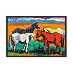 Bartos Art Framed Poster: HORSES, Create a unique and personalized Ambiance in your Home and Office Canvas Art, Canvas Prints, Original Paintings, Oil Paintings, Timeless Beauty, Framed Art, Moose Art, Alternative, Scene