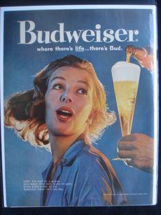 BUDWEISER BEER AD ORIGINAL VINTAGE ADVERTISEMENT 1950's