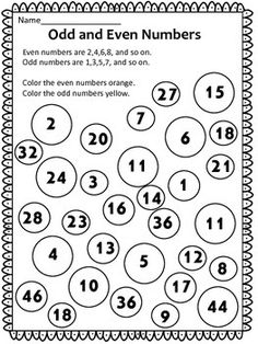 FREE:  Odd and Even Numbers