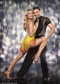 Glamorous: Laura Whitmore led the way in the glamour stakes as the current crop of Strictly Come Dancing talent posed for their official show pictures