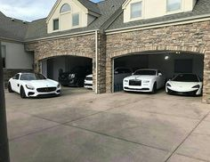 Wealthy lifestyle, rich lifestyle, luxury lifestyle, garage shed, dream gar Garage House, Dream Garage, Car Garage, My Dream Car, Dream Cars, Carros Lamborghini, Royce Car, Lux Cars, Luxury Lifestyle