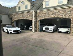 "1,102 Likes, 10 Comments - Gulf cars | سيارات الخليج (@gulf_cars2) on Instagram: ""White Garage  #mercedes #rollsroyce #mclaren #cadillac"""