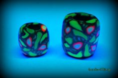 Set of two handsculpted psychedelic clay uv by InnerMind on Etsy, €5.95