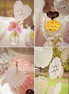 Doillies, ou papel rendado, para decorar a sua festa!  