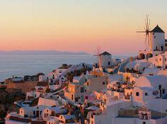 Pôr do sol em Santorini, Grécia